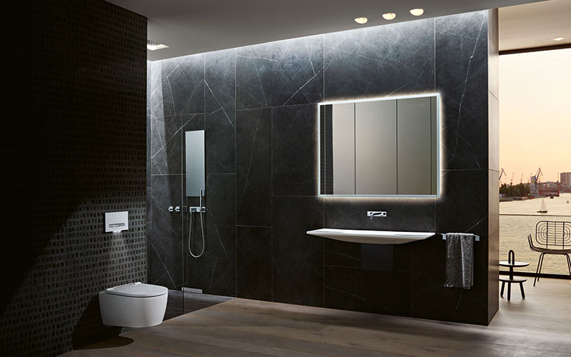 Durch eine engere Verbindung von Sanitärtechnik, Keramik und Einrichtung eröffnen sich ganz neue Möglichkeiten für großzügige und reinigungsfreundliche Badausstattungen.