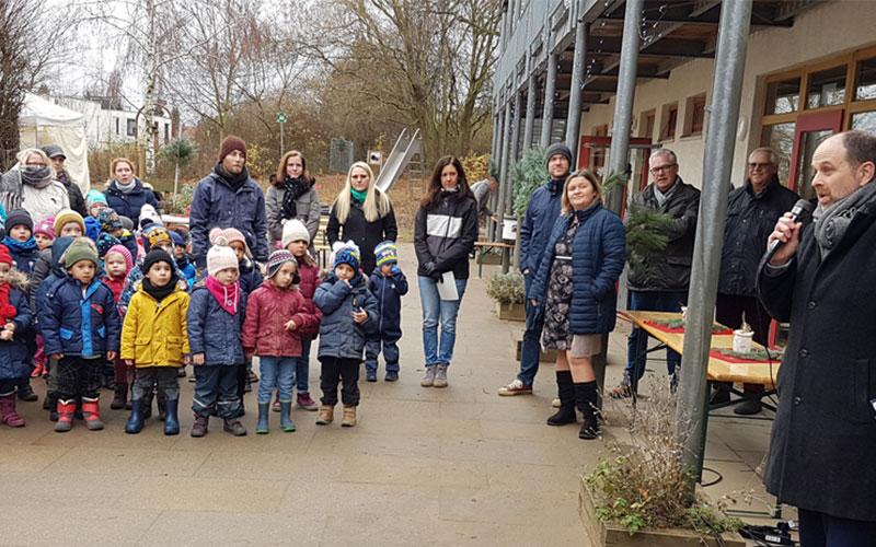 Kita Villa Kunterbunt feiert Richtfest